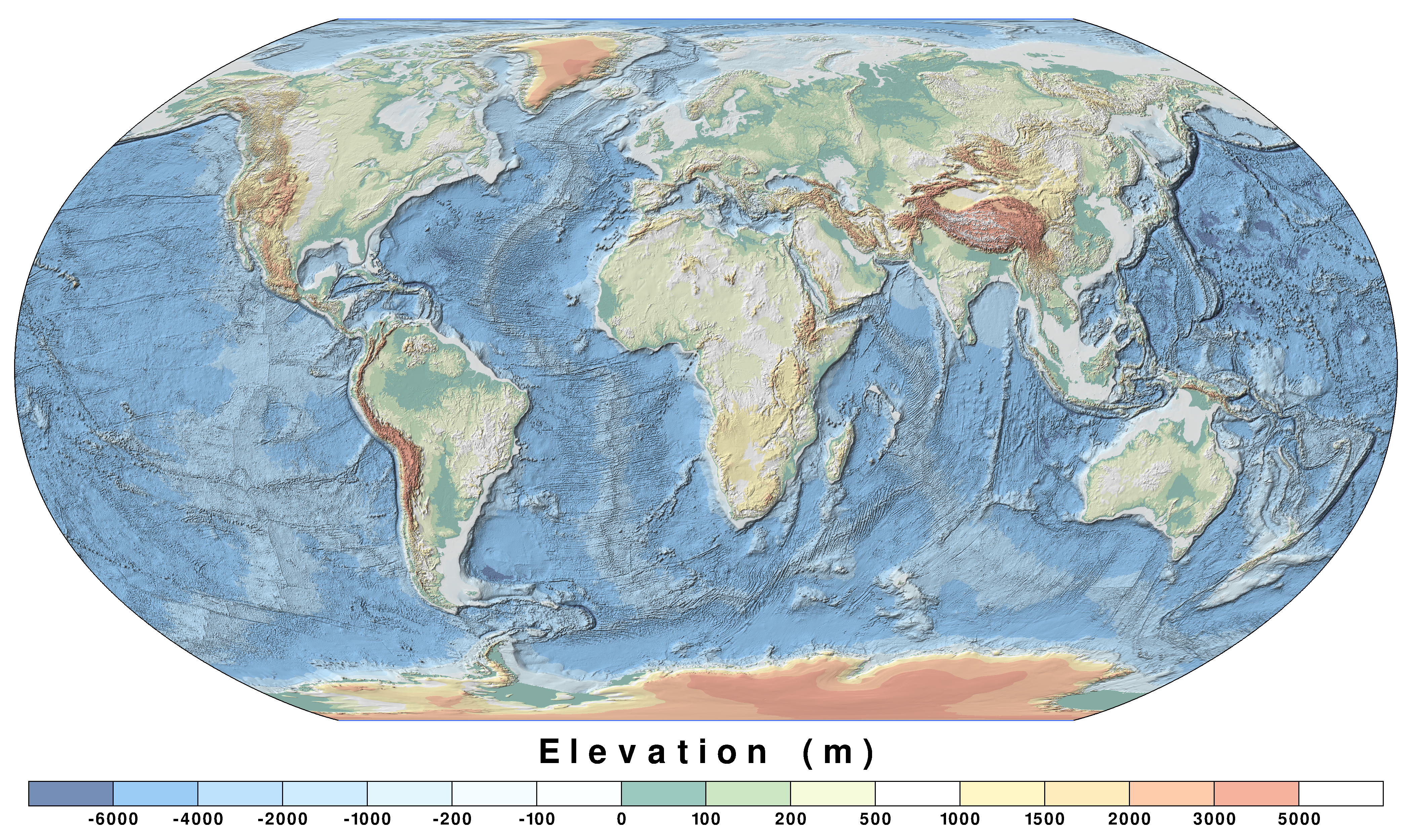 World Maps Public Domain PAT The Free Open Source Portable - World map by elevation